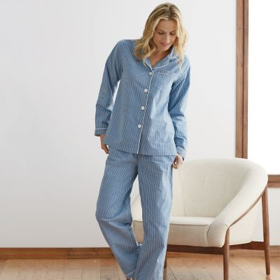 Woven Cotton Stripe Pajamas