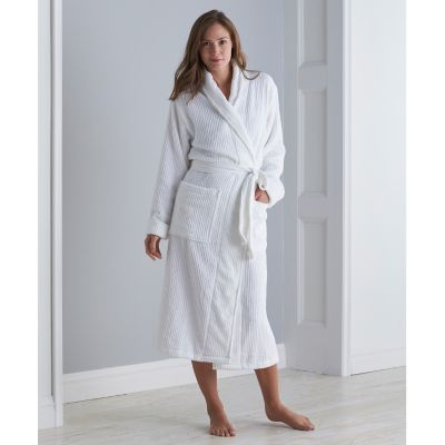 Aertex® Stripe Bathrobe