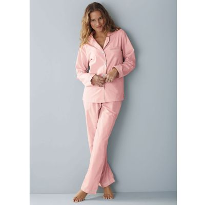 Woven Cotton Pajamas - Pink