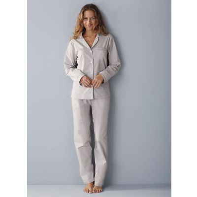 Woven Cotton Pajamas - Silver