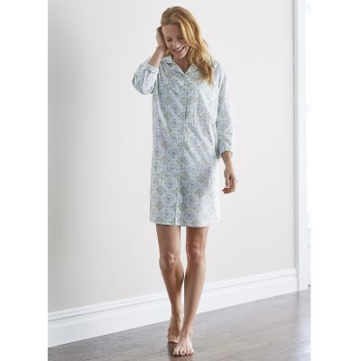 Woven Cotton Nightshirt – Medallion