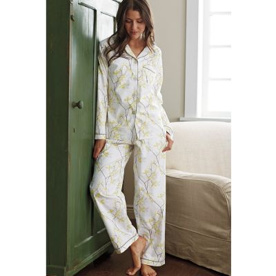 Woven Cotton Pajamas – Shadow Vine
