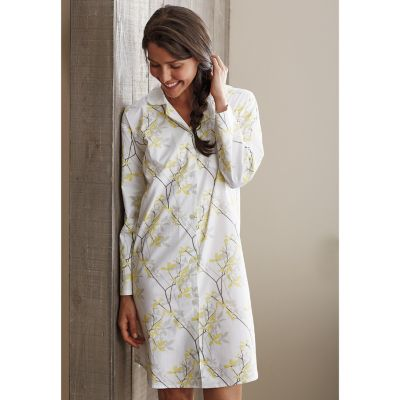 Woven Cotton Nightshirt – Shadow Vine