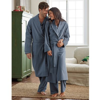 Men's & Women's Heathered Flannel Robe