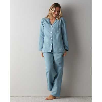 Linen Cotton 2-Piece Women's Pajama Set
