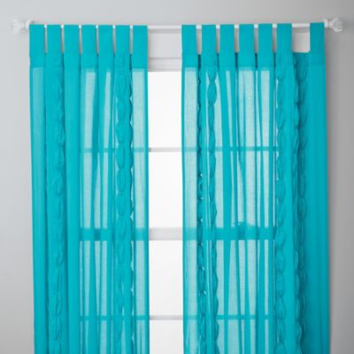 Ruched Sheer Panels