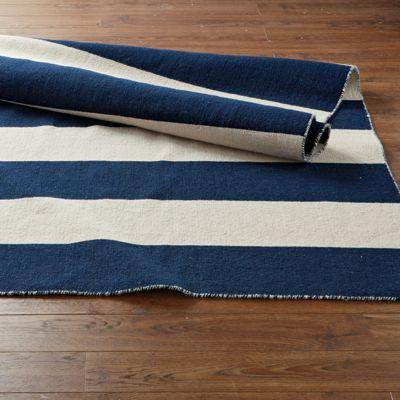 Stripe Dhurrie Rug / Rug Comfort Grip