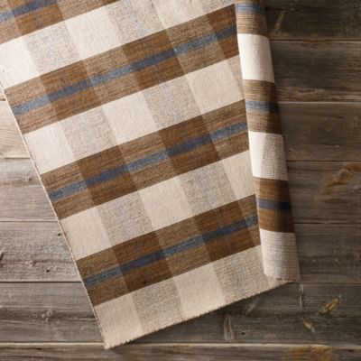 Plaid Dhurrie Rug