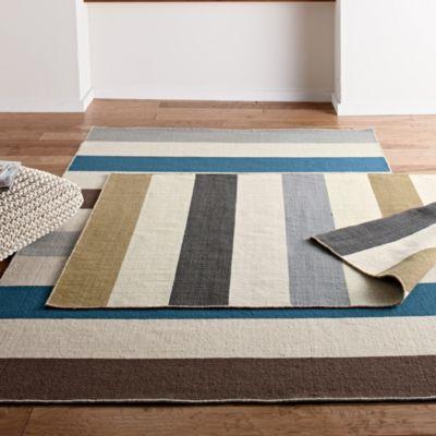 Company Wool Stripe Flatweave Rug
