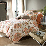 Novella Wrinkle-Free Sateen Comforter Cover/Duvet Cover and Sham