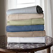 Comfort Wash Solid Linen Bedding