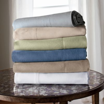 Comfort Wash Solid Linen Fitted Sheet