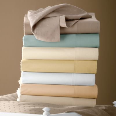 Legends® Luxury 500-Thread Count Solid Sateen  Fitted Sheet