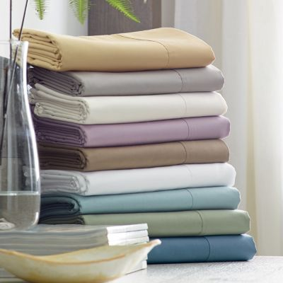 450-Thread Count Wrinkle-Free Solid Sateen Deep Sheets