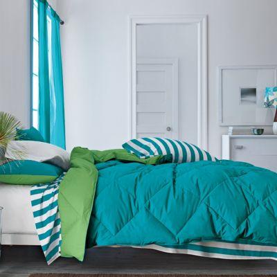 St. Tropez® Reversible Solid TCS® Down Comforter & Sham