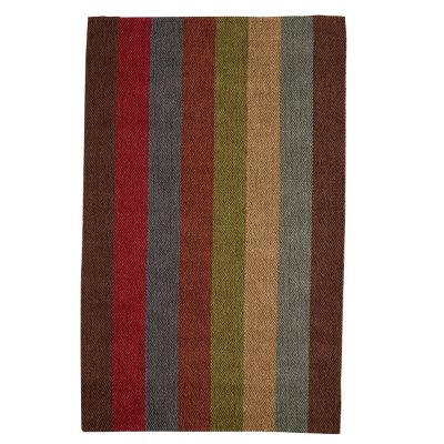 Fairfield Stripe Jute Rug / Rug Comfort Grip