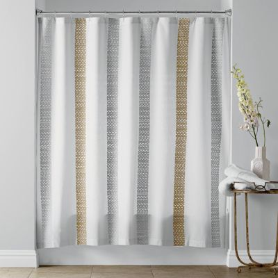 Crochet Stripe Shower Curtain