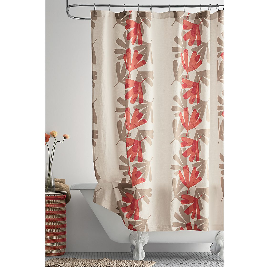 Biscayne Linen Shower Curtain The Company Store