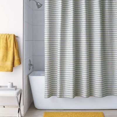 Pixel Shower Curtain - Marigold