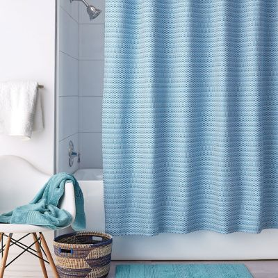 Pixel Shower Curtain - Ocean