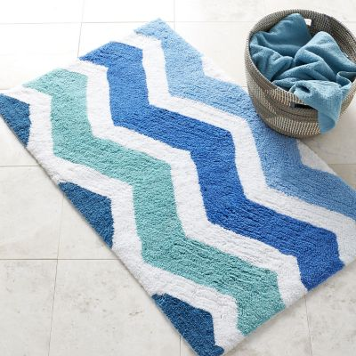 Chevron Rug - Blue