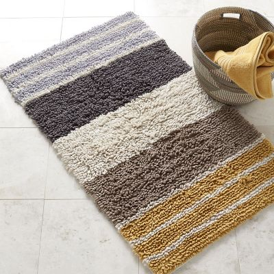 Chunky Loop Stripe Bath Rug - Marigold