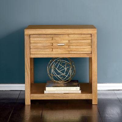 Tribeca Side Table with Single Groove Panel Drawer