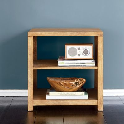 Tribeca Side Table with Open Shelves