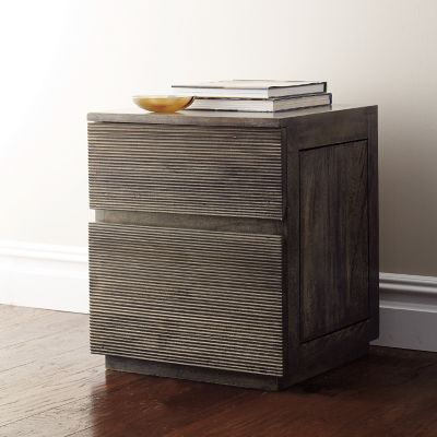 Groove End Table