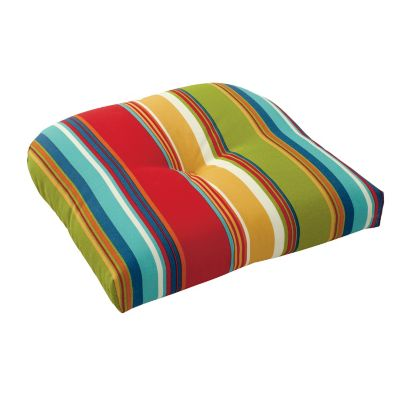 Outdoor Tufted Contour Chair Cushion (18x17x3