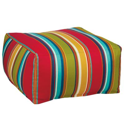 Outdoor Pouf Cover - Newport Stripe