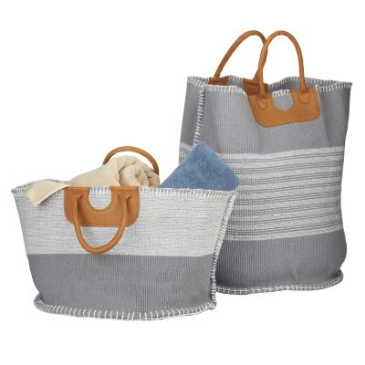 Handwoven Chindi Storage Bins (Set of 2)