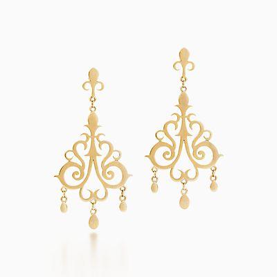 Browse Gold Earrings – Tiffany Chandelier Earrings