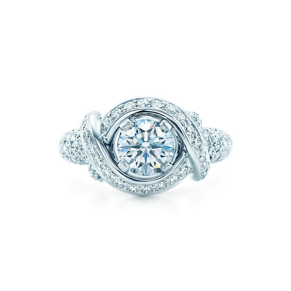 schlumberger engagement ring engagement rings tiffany co - Tiffanys Wedding Rings