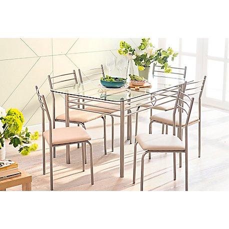 Muebles de comedor y cocina for Vidrio para mesa de comedor precio