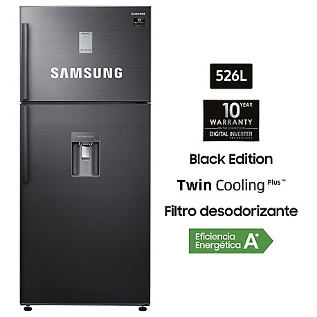Refrigeradora 526L, Twin Cooling Plus, Con Dispensador, Black Edition - RT53K6541BS