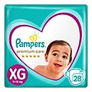 Pampers Premium Care Pañales Desechables XG 28 Und