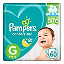 Pampers Confort Sec Pañales Desechables G