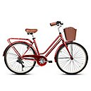 Bicicleta Gama City Avenue Alloy Aro 26 Rouge