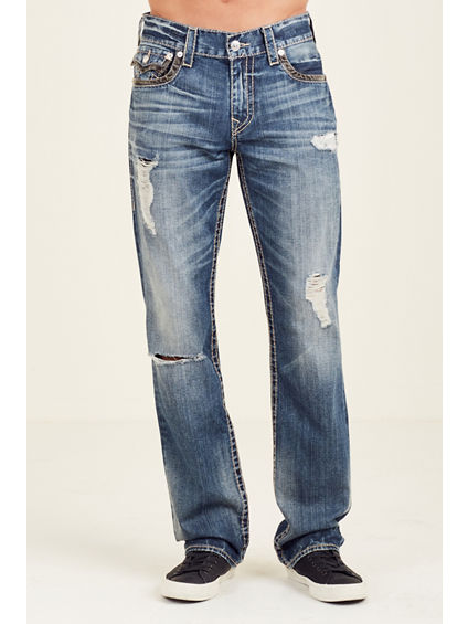 STRAIGHT FLAP BIG T RIPPED MENS JEAN