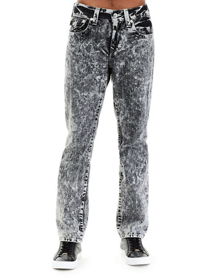 ACID WASH W/FLAP STRAIGHT MENS JEAN