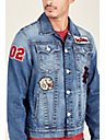 PATCH TRUCKER MENS DENIM JACKET