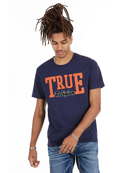MESH TRUE RELIGION  CREW NECK  MENS TEE