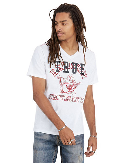 TR UNIVERSITY V-NECK MENS TEE