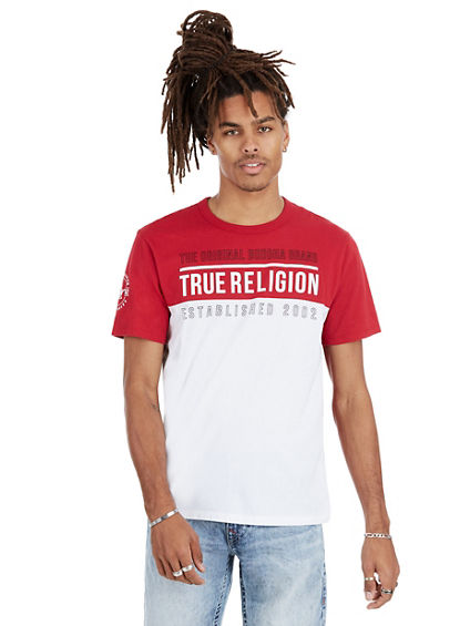 TRUE LINE CREW NECK MENS TEE