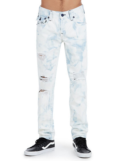 SKINNY FIT  BIG T ACID WASH JEAN