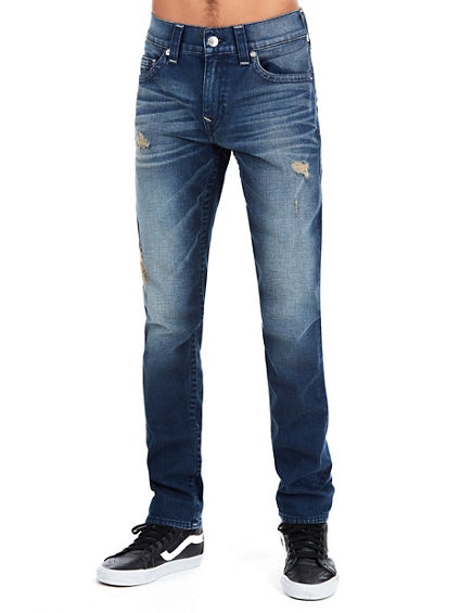 STRAIGHT FIT OLD MULTI RUNSTITCH JEAN