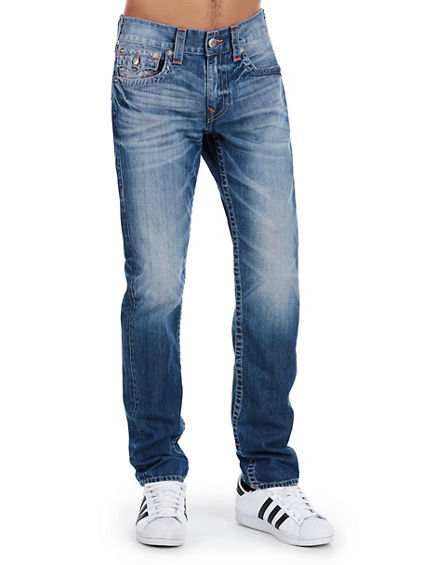SKINNY NATURAL STITCH MENS JEAN