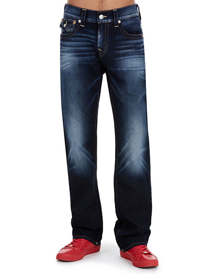 STRAIGHT WHEAT STITCH MENS JEAN