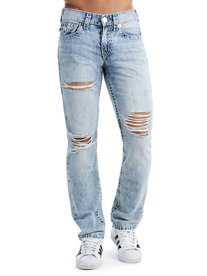 SLIM FIT DISTRESSED SUPER T JEAN